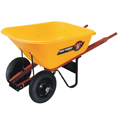 True Temper 8 cu. ft. Contractor Wheelbarrow