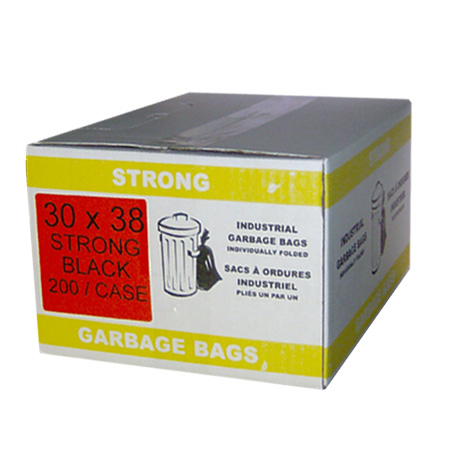 30 x 38 Strong Black Garbage Bags