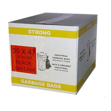 35 x 47 Strong Black Garbage Bags