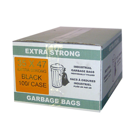 35 x 47 Extra Strong Black Garbage Bags